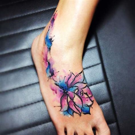 watercolor tattoos paris best 25 watercolor lotus ideas on
