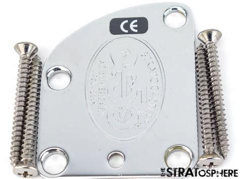 Neckplate Fender Anniversary 50th For Stratocaster usa fender deluxe 50th stratocaster strat neck plate chrome contour american reverb