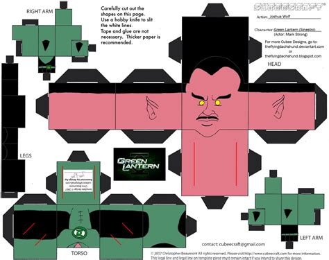 Green Lantern Papercraft - dcf8 green lantern thaal sinestro cubee by