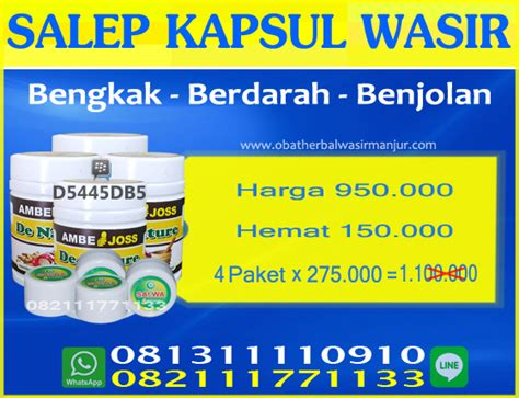 Salep Wasir wasir herbal klinik de nature