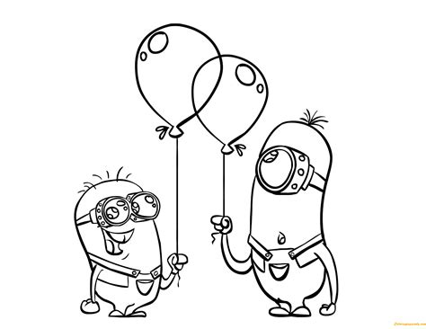 minions   despicable  films coloring page