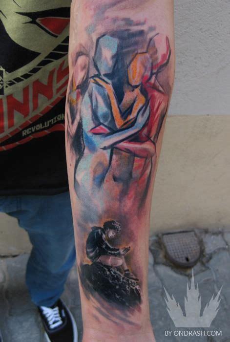 romantic couple tattoos ondrash relationship design