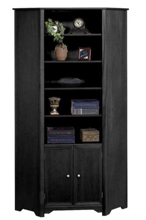 Black Corner Bookcase Cabinet Corner Cabinets Reviews