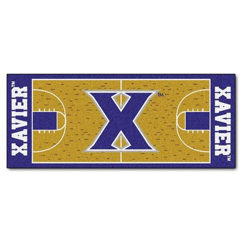 basketball court rugs fanmats xavier 2 ft 6 in x 6 ft basketball court rug runner rug 9443 the home depot