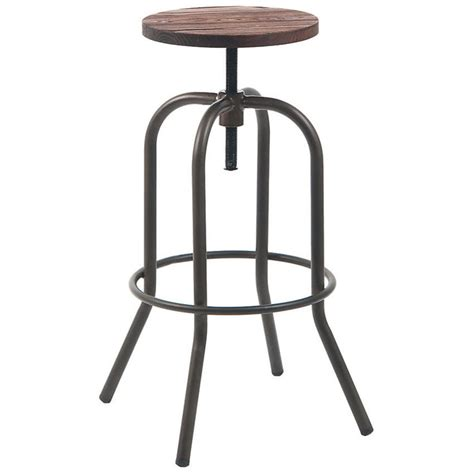 Backless Swivel Bar Stool Swivel Backless Metal Bar Stool In Grey Finish With Walnut Wood Seat