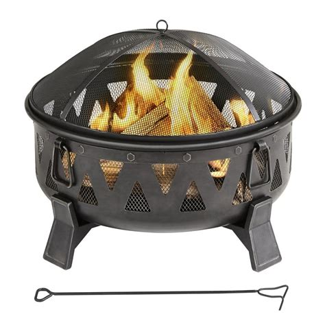 lowes firepit garden treasures 30 in wood burning pit bowl