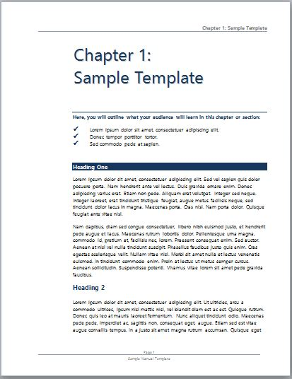 operation manual template word operations manual template microsoft user manual template