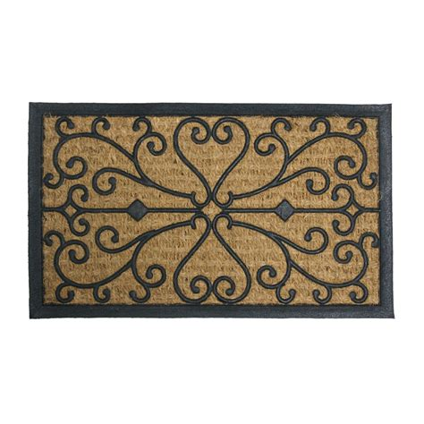 Decorative Coir Door Mats Rubber Cal Coir Door Mat Rubber Cal Quot Harmony Quot Outdoor Coco