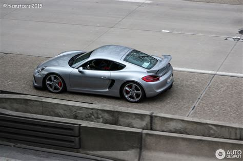 porsche cayman 2015 silver gt silver out in the wild without intake scoops and
