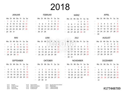 Kalender 2018 Weeknummers Quot Kalender 2018 Querformat Quot Stock Image And Royalty Free