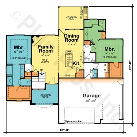 Dual Master Bedroom Floor Plans | sadie 29353 traditional home plan at design basics
