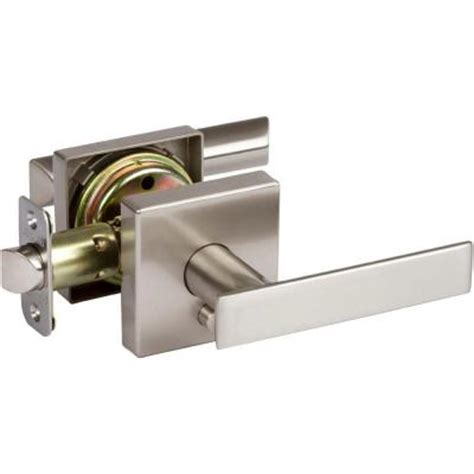 Bedroom Door Lock Padlock Delaney Satin Nickel Bedroom And Bathroom Left