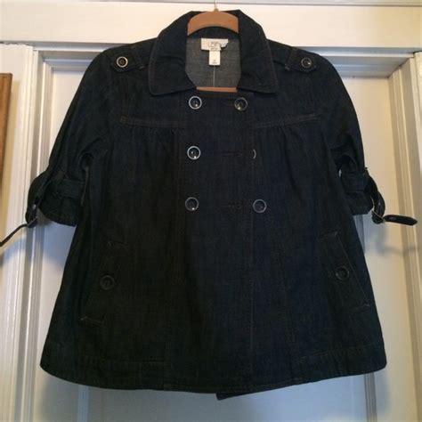 cropped swing coat 70 off loft jackets blazers loft cropped denim swing