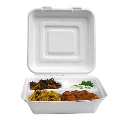 scatole in polistirolo per alimenti contenitori 3 scomparti con coperchio