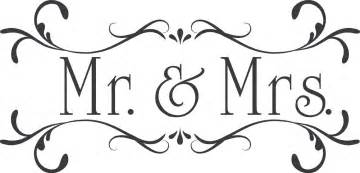 wedding mr mrs custom wall decor words vinyl lettering decal
