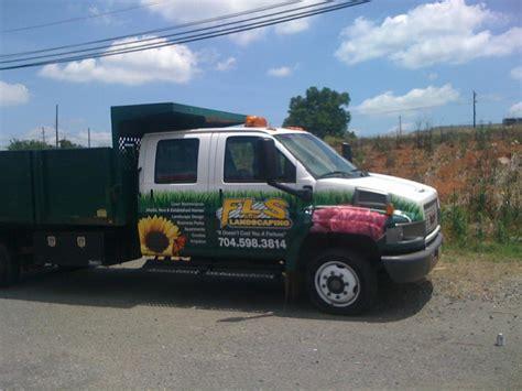 fls dump truck from fls landscaping llc flawless lawn