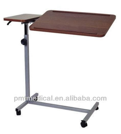 rolling adjustable bedside table hospital rolling table bed rotating dining table