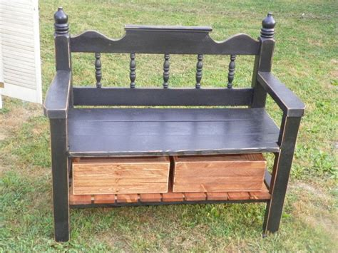 bench from bed frame benches pinterest