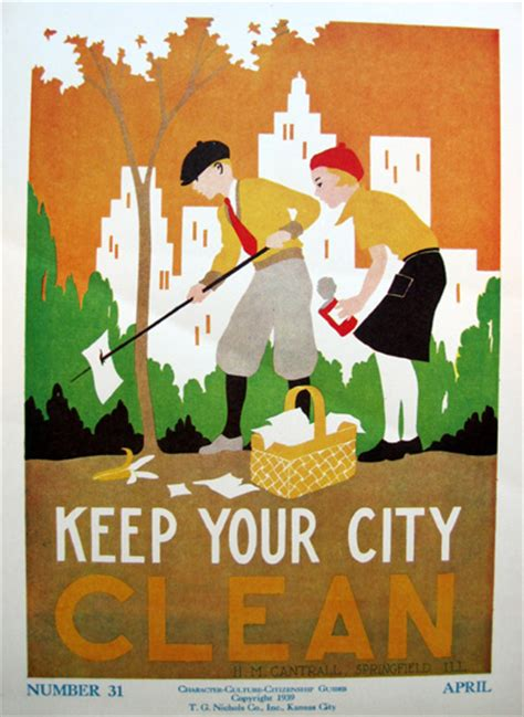 Hm Shopping Posters For Impulsive Buyers by Keep Your City Clean By H M Cantrell Vintage Products