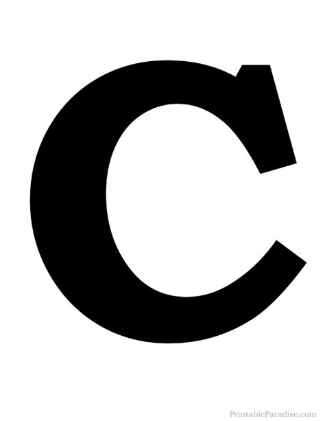 printable large letter c printable solid black letter c silhouette pillows for