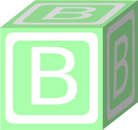 Blockers Clip B Block Green Clip At Clker Vector Clip Royalty Free Domain