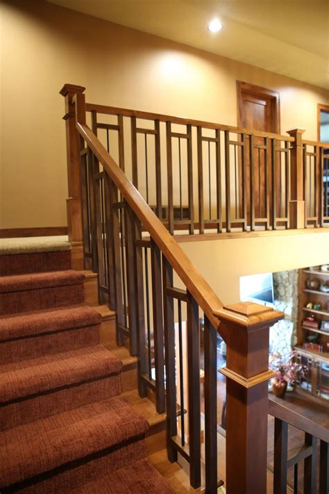 Stair Banister Ideas Bq by Stair Systems Craftsman Style Stair With A Mix Of
