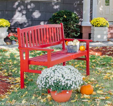 how to paint a bench how to paint a red bench bench makeover four generations one roof