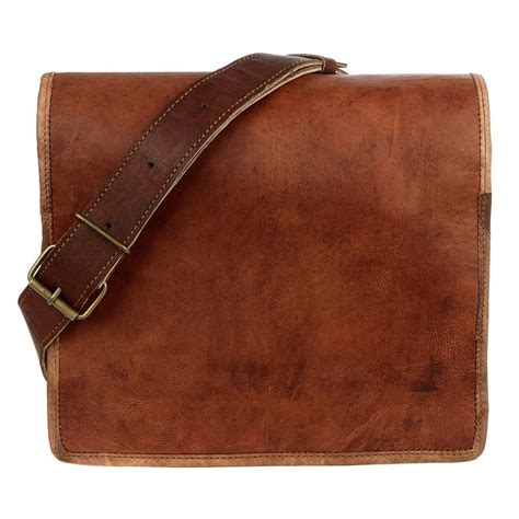 brown leather messenger bag brown leather courier messenger bag by paper high notonthehighstreet