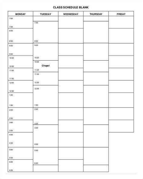 free blank printable weekly school planner student handouts