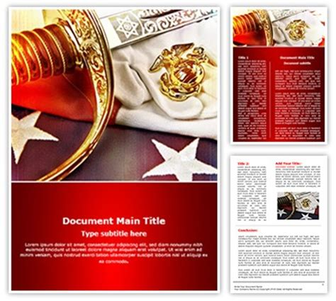 Marine Corps Editable Word Template And Design Marine Corps Powerpoint Templates