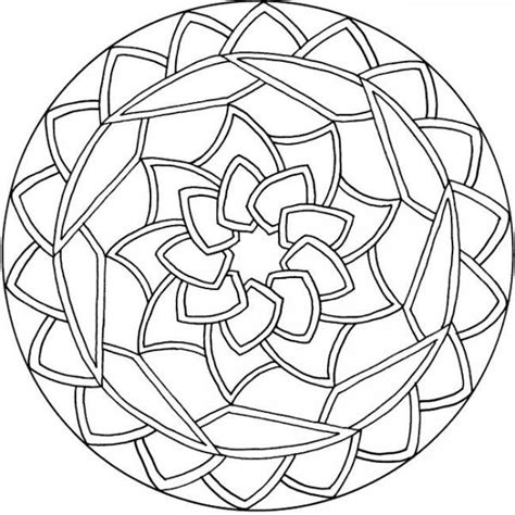 Simple Mandala Coloring Pages 01 Coloring
