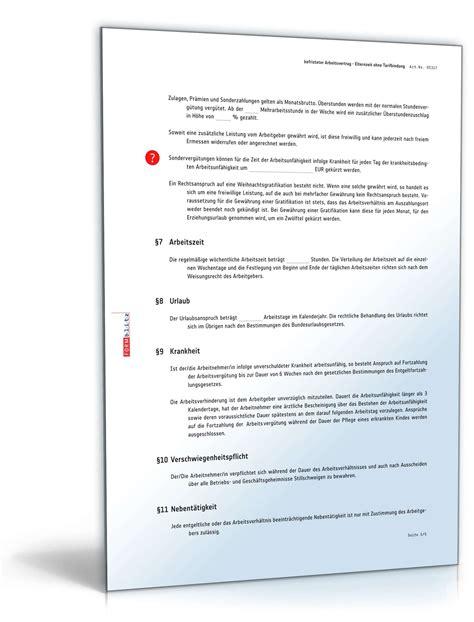 Vorlage Kündigung Arbeitsvertrag Nach Elternzeit Befristeter Arbeitsvertrag Elternzeit Ohne Tarif Vorlage Zum