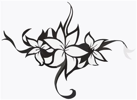 cornici tribali tribal flower clipart www pixshark images