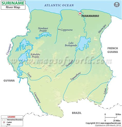 where is suriname on a map suriname river map http www mapsofworld