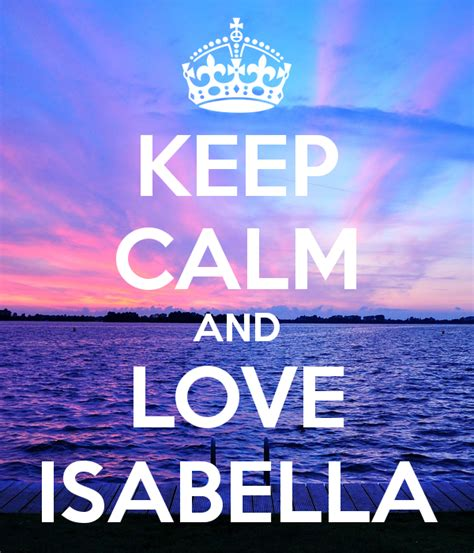 Personalised Wall Stickers keep calm and love isabella keep calm and carry on image