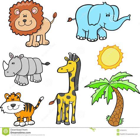 imagenes animales safari conjunto del animal del safari imagenes de archivo
