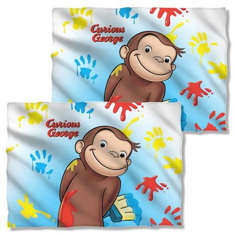 painting curious george curious george paint fb pillow
