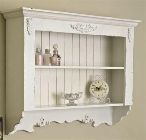 Ornate Wall Shelf by Ornate White Painted Wall Shelf Unit Shabby Vintage Chic