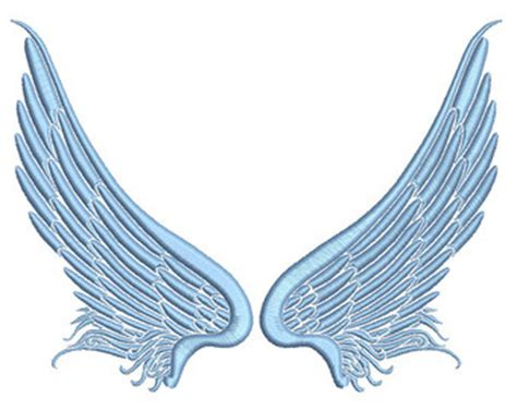embroidery design angel wings wings bird angel embroidery design from ocdembroidery on