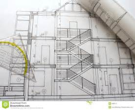 architect designs architectural plans blueprint notation architectural plan