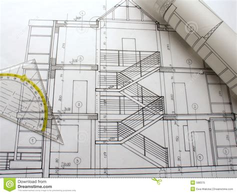 house architect plans architectural plans blueprint notation architectural plan blueprint architect stock
