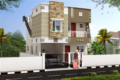 Residential Building Elevation | luckydesigners 3d elevation residential building