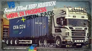 Scania v8 sound mod skin pack ets 2 mods