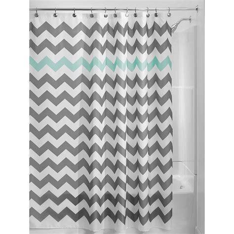 aqua and white chevron curtains 17 best ideas about blue shower curtains on pinterest