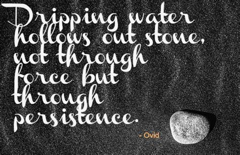 rock and water the power of thought the peace of letting go 65 best persistence quotes and sayings