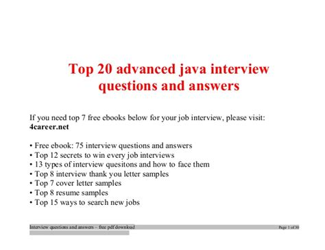top advanced java questions and answers tips