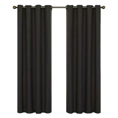 blackout curtains home depot eclipse wyndham blackout charcoal polyester curtain panel 84 in length 12968052084chr the