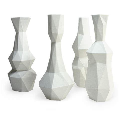 moderne vasen cubist vase set modern decor white vases