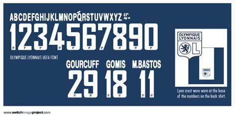 Custom Font Nameset Olympique Lyon 2010 11 football teams shirt and kits fan lyon 2010 11 third european kit maillot
