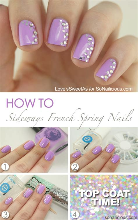 tutorial nail art indonesia sideways french manicure spring nail art tutorial